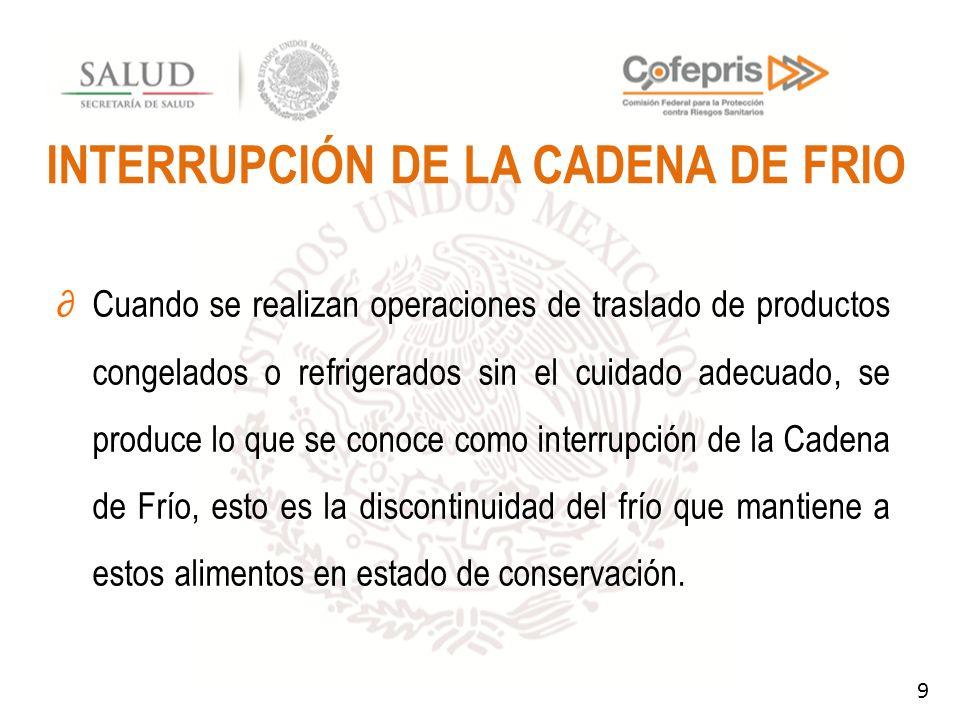 INTERRUPCIÓN DE LA CADENA DE FRIO