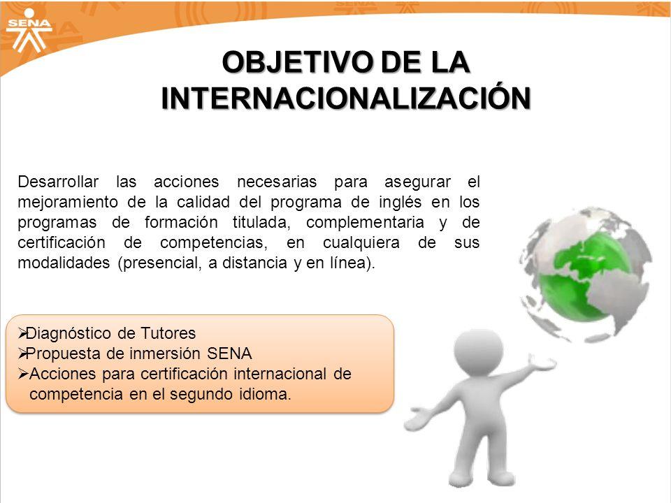 OBJETIVO DE LA INTERNACIONALIZACIÓN