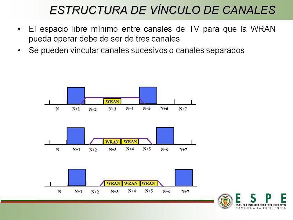 ESTRUCTURA DE VÍNCULO DE CANALES