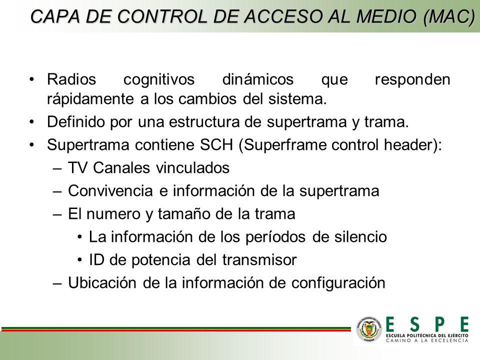 CAPA DE CONTROL DE ACCESO AL MEDIO (MAC)