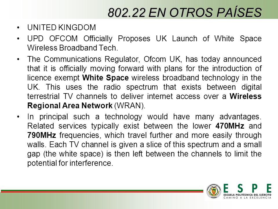 802.22 EN OTROS PAÍSES UNITED KINGDOM