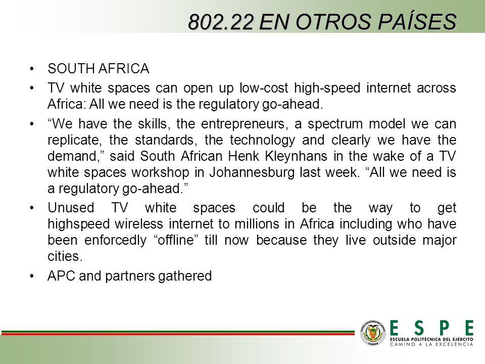 802.22 EN OTROS PAÍSES SOUTH AFRICA