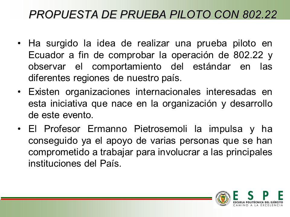 PROPUESTA DE PRUEBA PILOTO CON 802.22