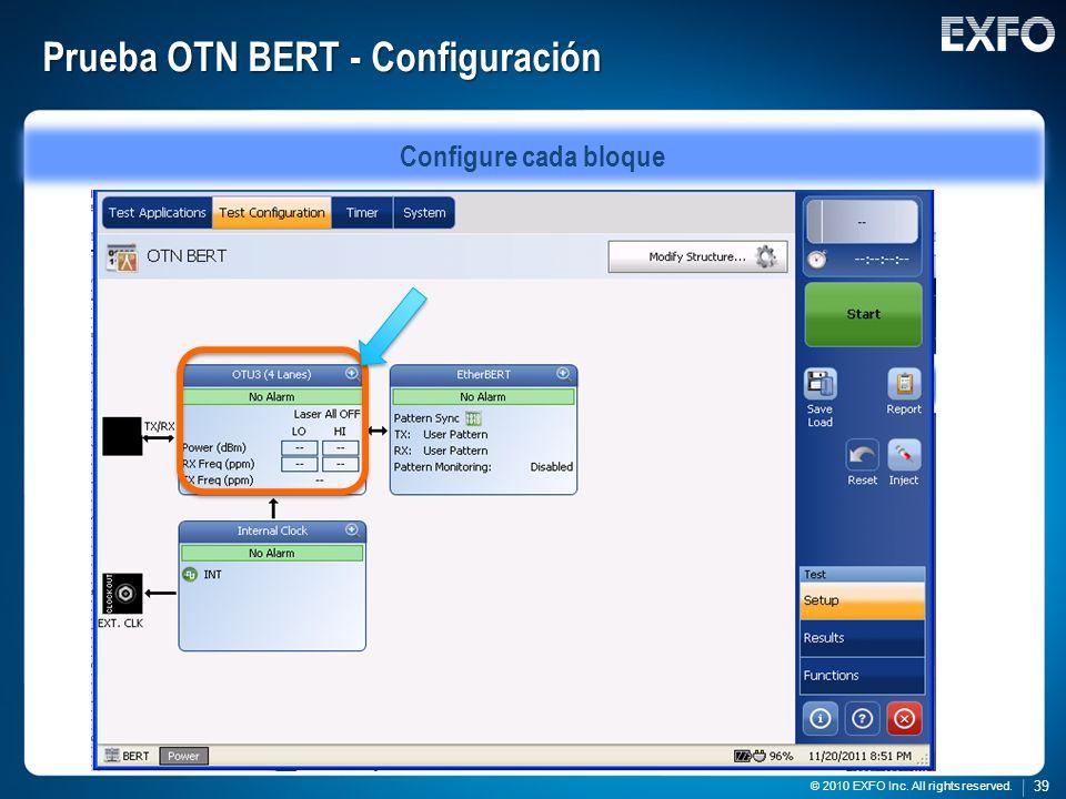 Prueba OTN BERT - Configuración