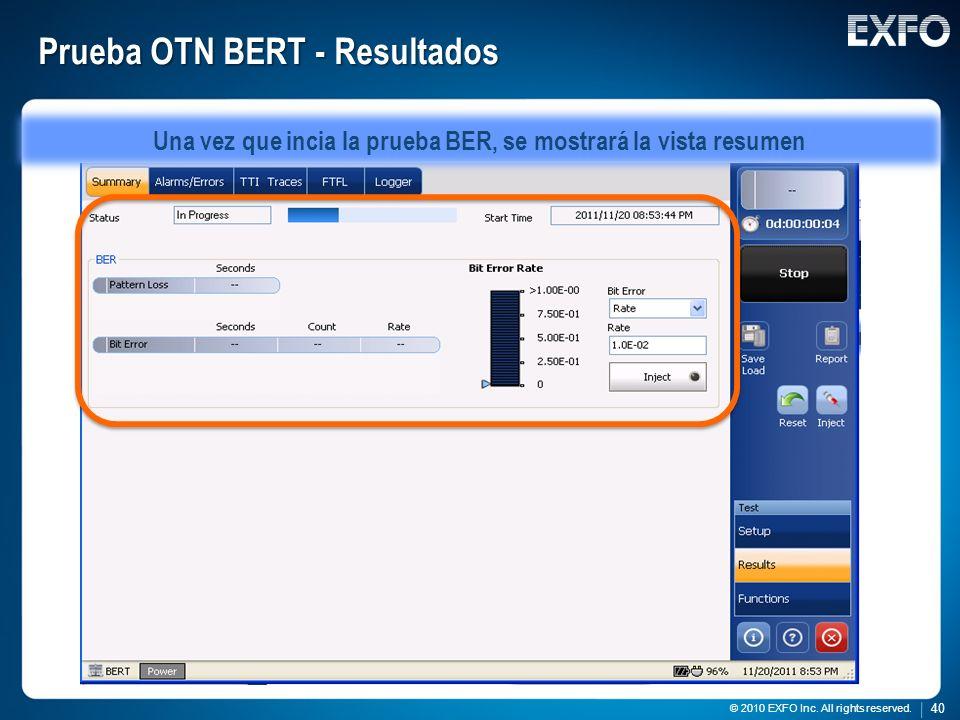 Prueba OTN BERT - Resultados