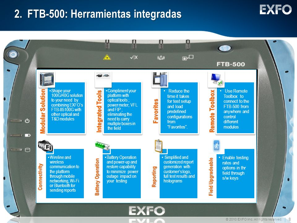 2. FTB-500: Herramientas integradas
