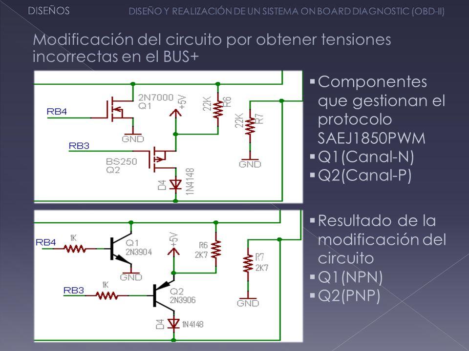Modificación del circuito por obtener tensiones incorrectas en el BUS+