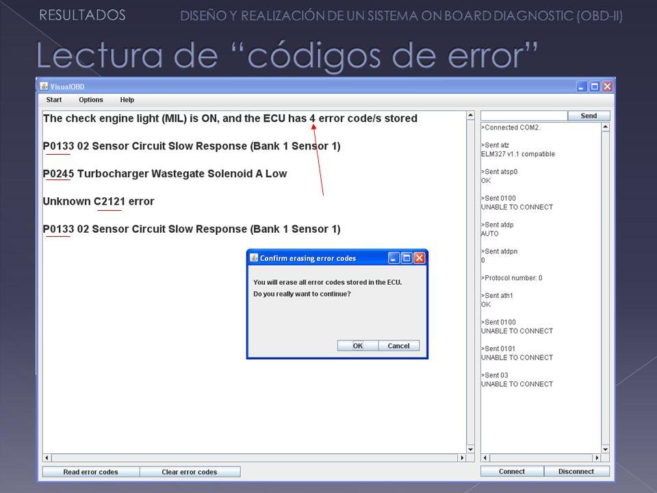 Lectura de códigos de error