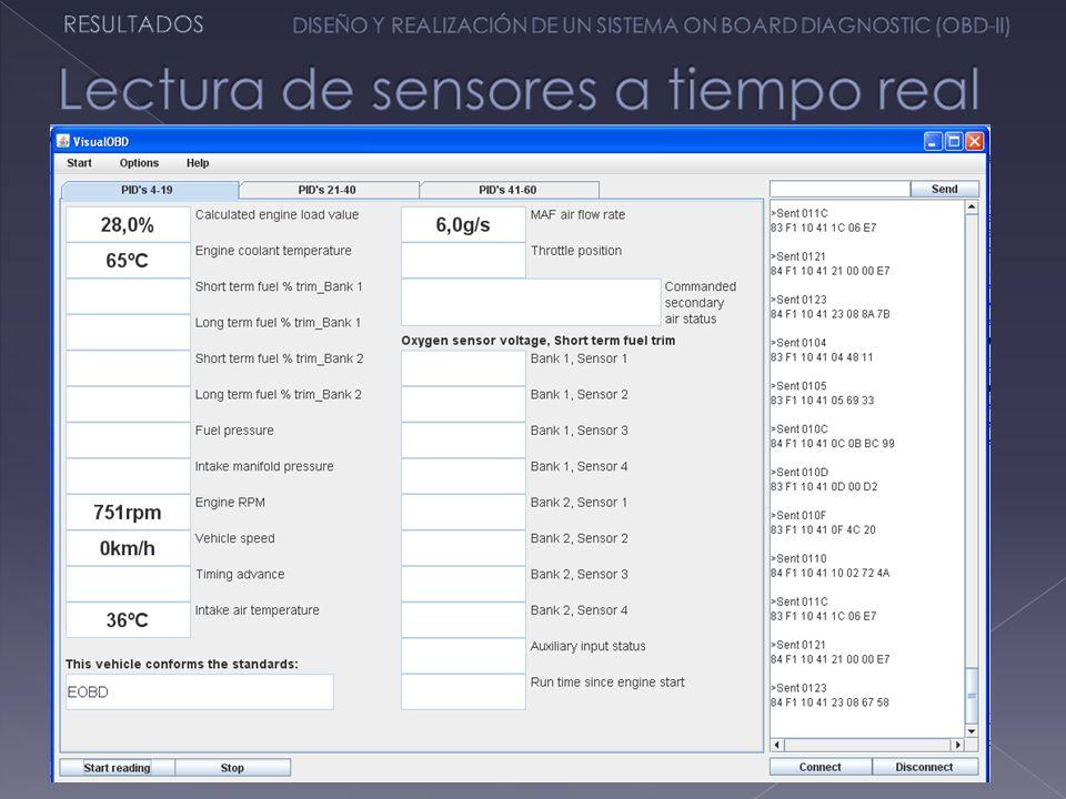 Lectura de sensores a tiempo real