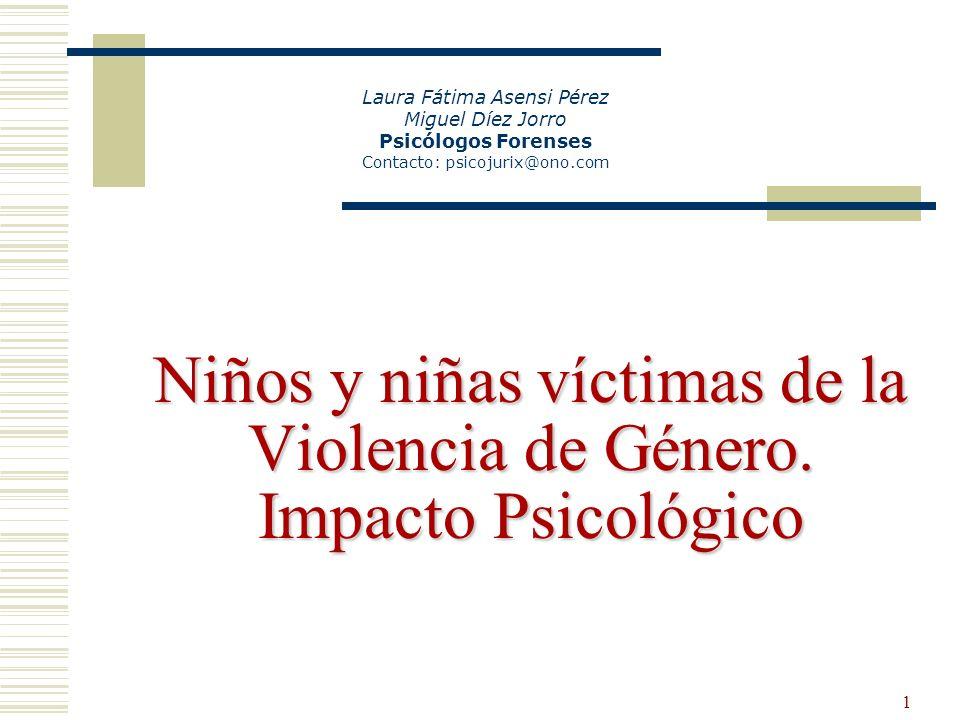 Niños y niñas víctimas de la Violencia de Género. Impacto Psicológico