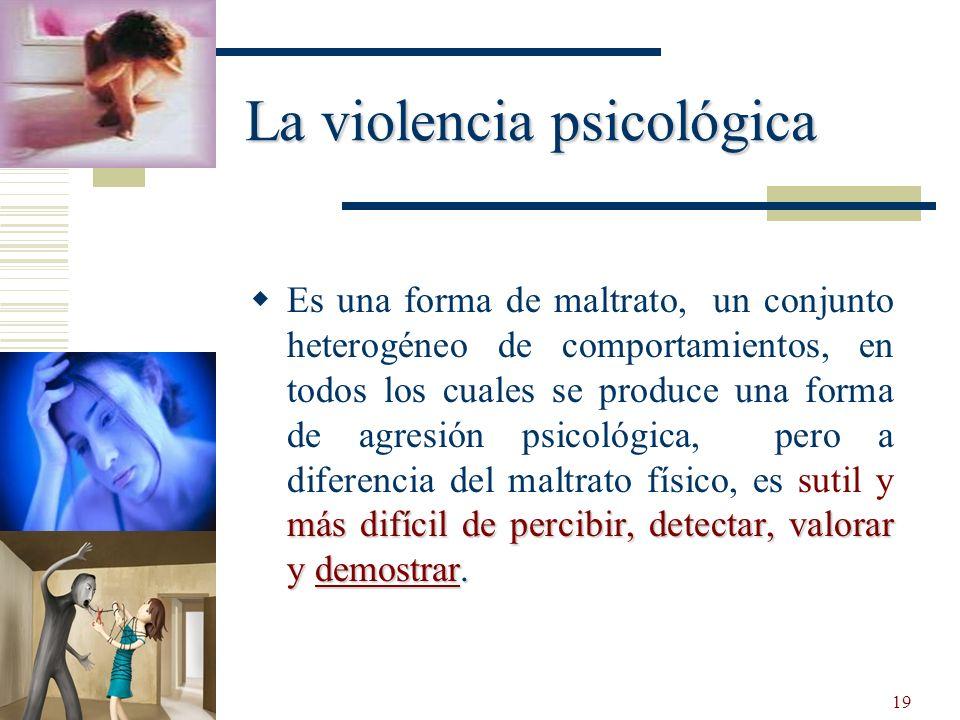 La violencia psicológica