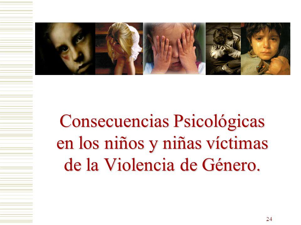 Consecuencias Psicológicas en los niños y niñas víctimas de la Violencia de Género.