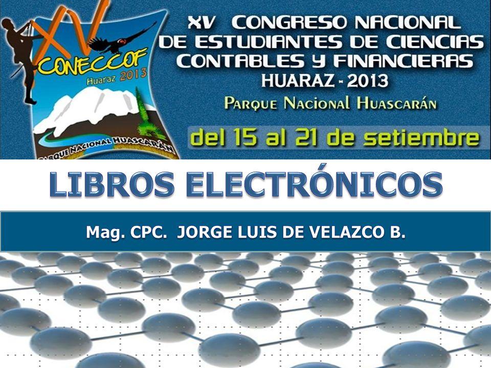 Mag. CPC. JORGE LUIS DE VELAZCO B.