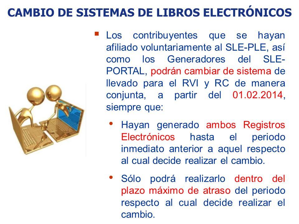 CAMBIO DE SISTEMAS DE LIBROS ELECTRÓNICOS