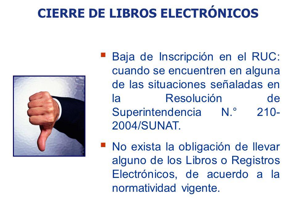 CIERRE DE LIBROS ELECTRÓNICOS