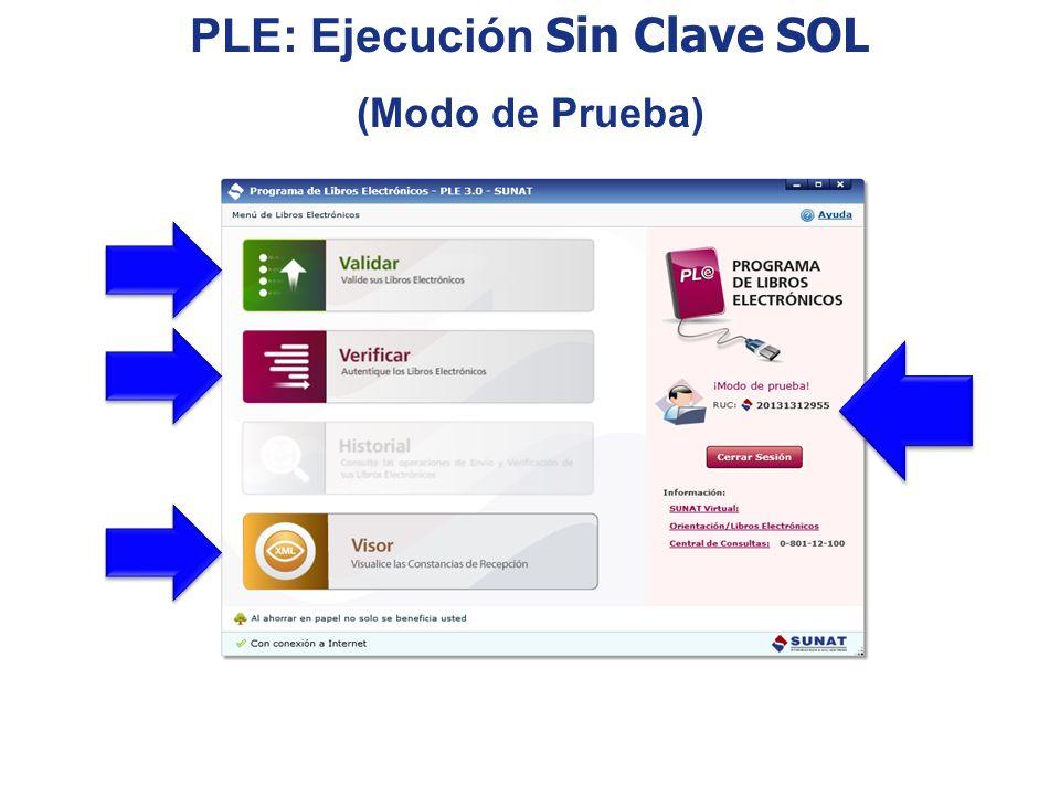 PLE: Ejecución Sin Clave SOL