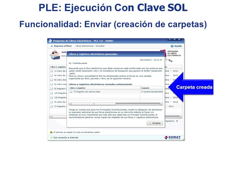 PLE: Ejecución Con Clave SOL