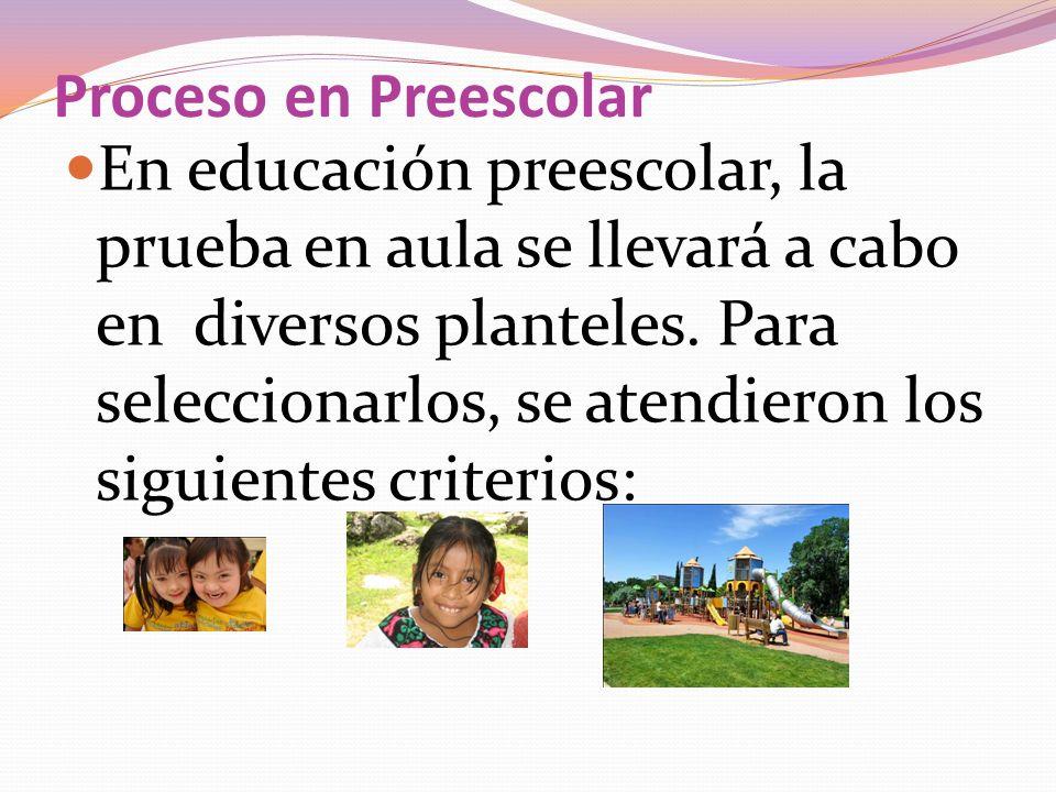 Proceso en Preescolar