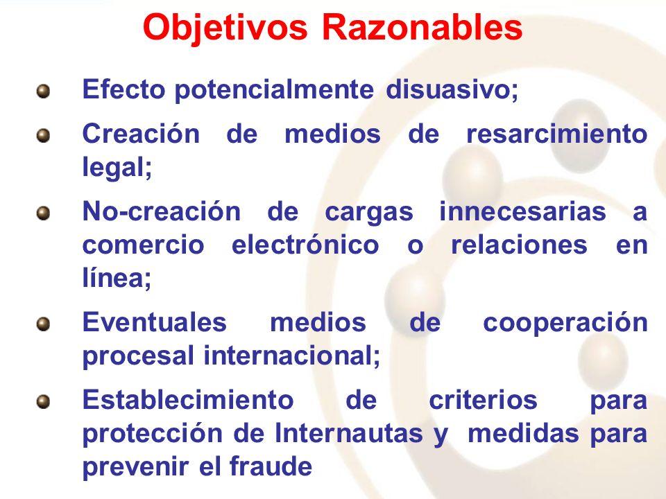 Objetivos Razonables Efecto potencialmente disuasivo;