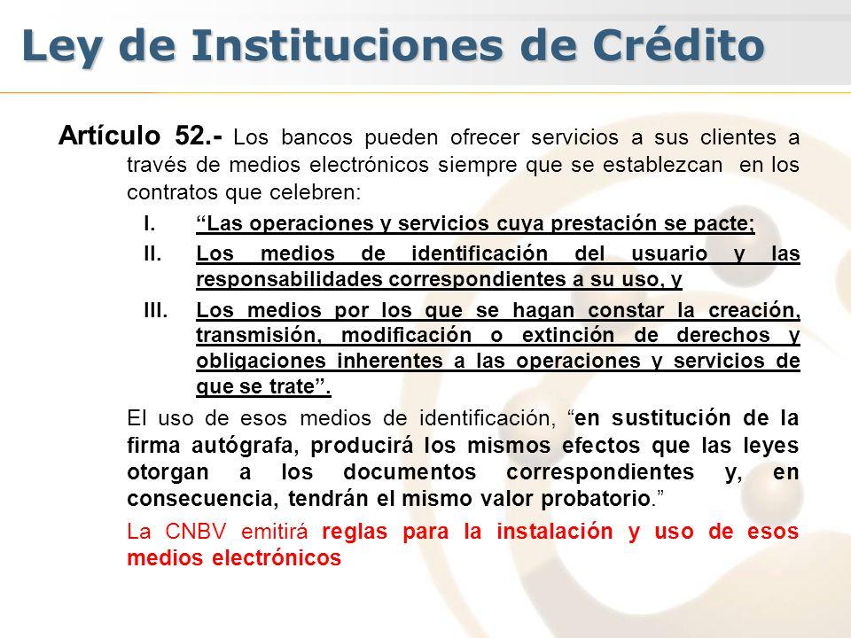 Ley de Instituciones de Crédito