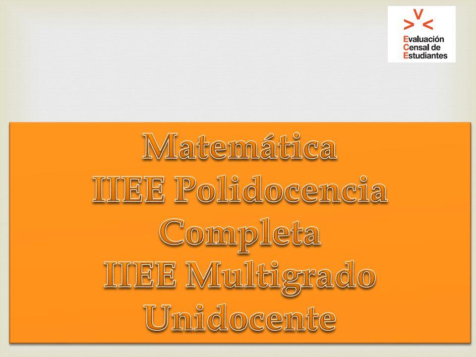 IIEE Polidocencia Completa IIEE Multigrado Unidocente