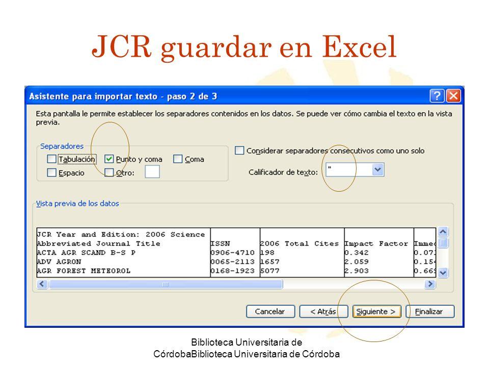Biblioteca Universitaria de CórdobaBiblioteca Universitaria de Córdoba