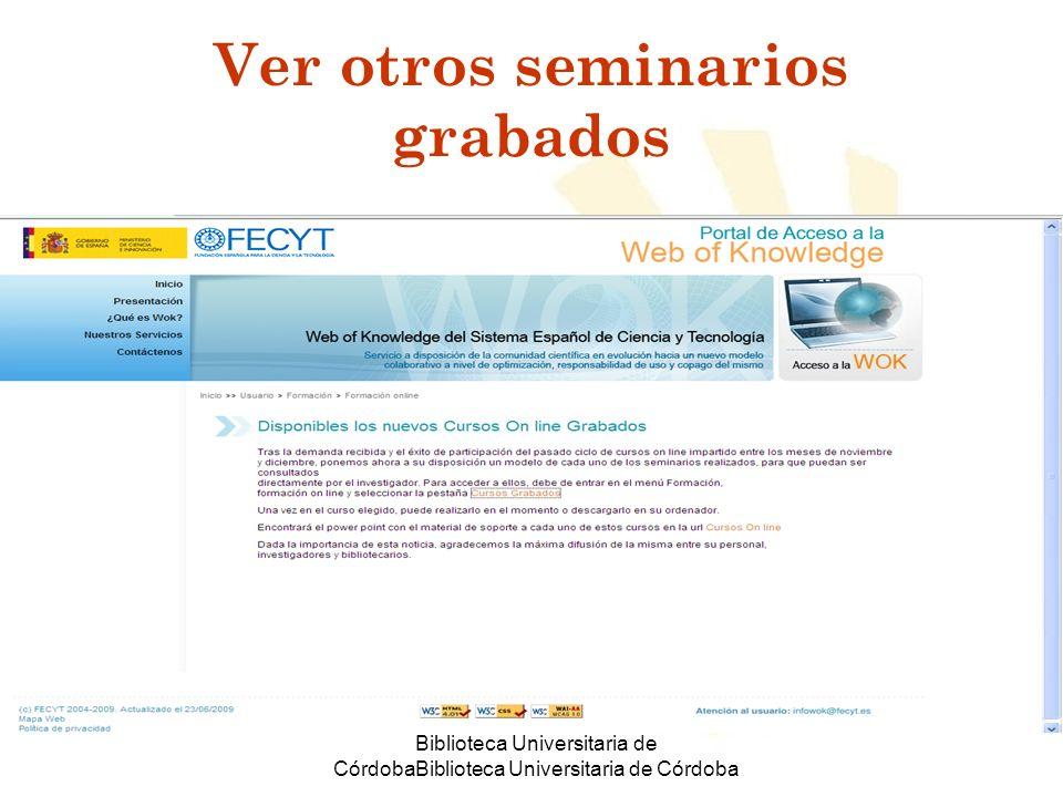 Ver otros seminarios grabados