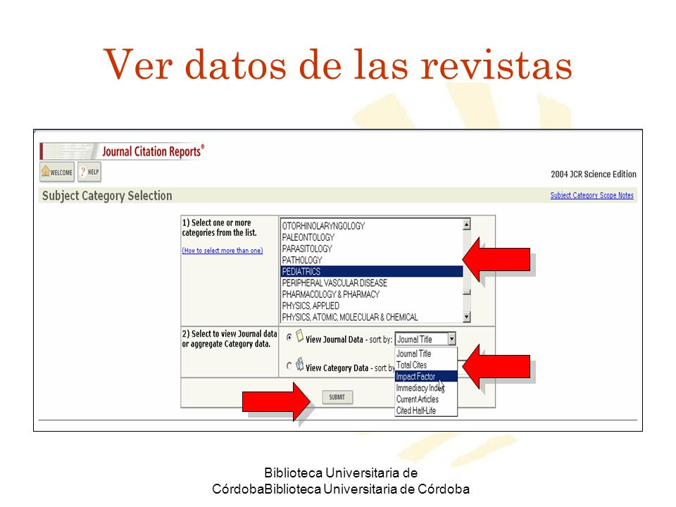Ver datos de las revistas