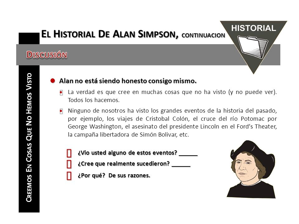 El Historial De Alan Simpson, CONTINUACION