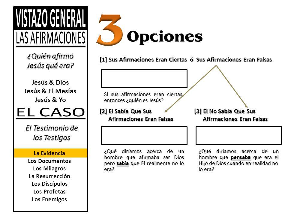 3 Opciones ¿Quién afirmó Jesús qué era El Testimonio de los Testigos
