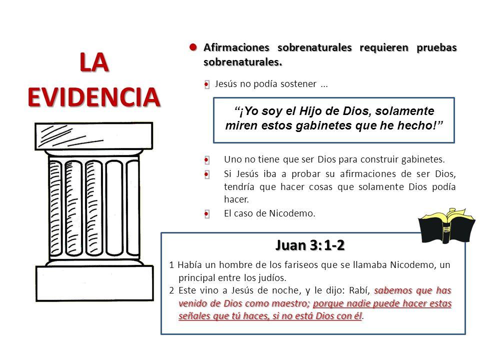 l Afirmaciones sobrenaturales requieren pruebas sobrenaturales. LA. EVIDENCIA. Ÿ. Jesús no podía sostener ...