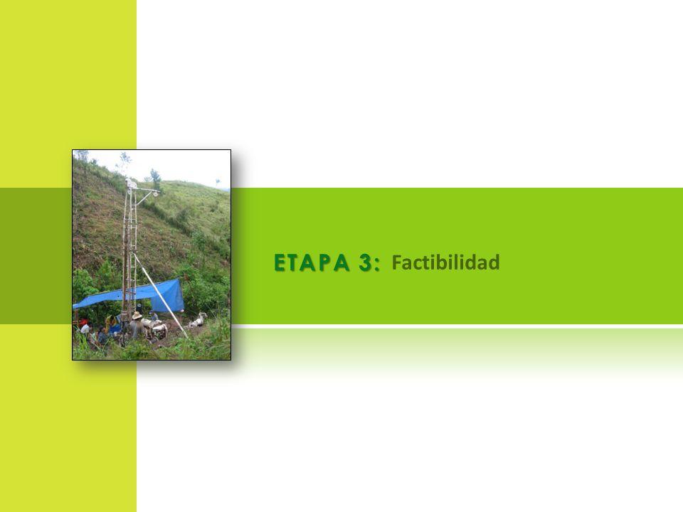 ETAPA 3: Factibilidad