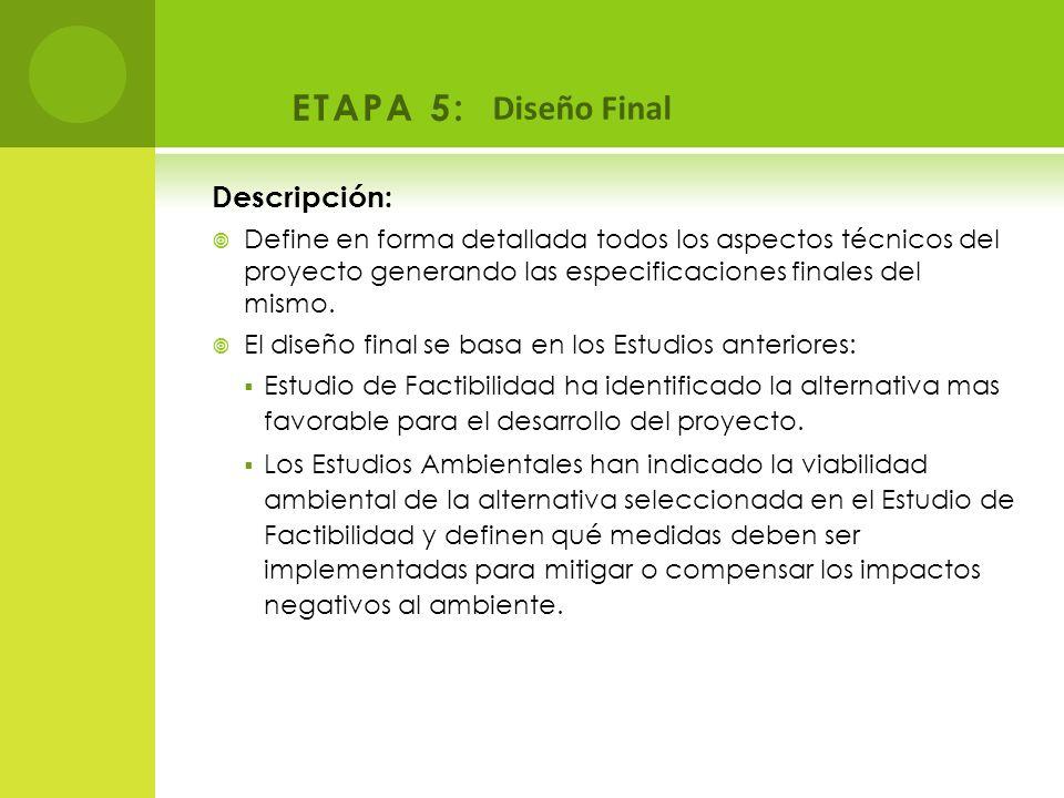 ETAPA 5: Diseño Final Descripción: