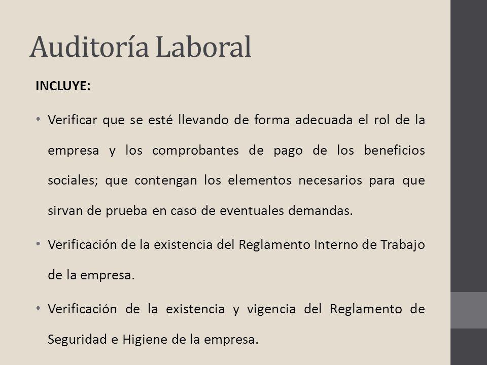 Auditoría Laboral INCLUYE: