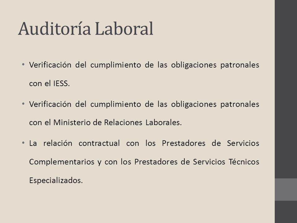 Auditoría Laboral Verificación del cumplimiento de las obligaciones patronales con el IESS.
