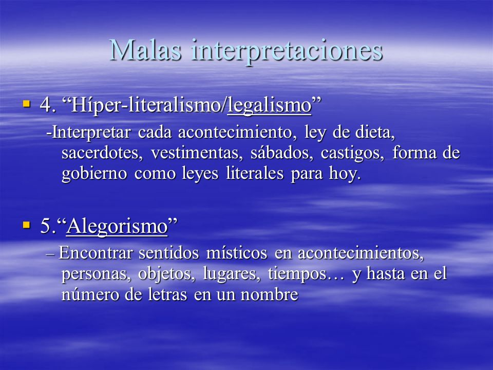 Malas interpretaciones