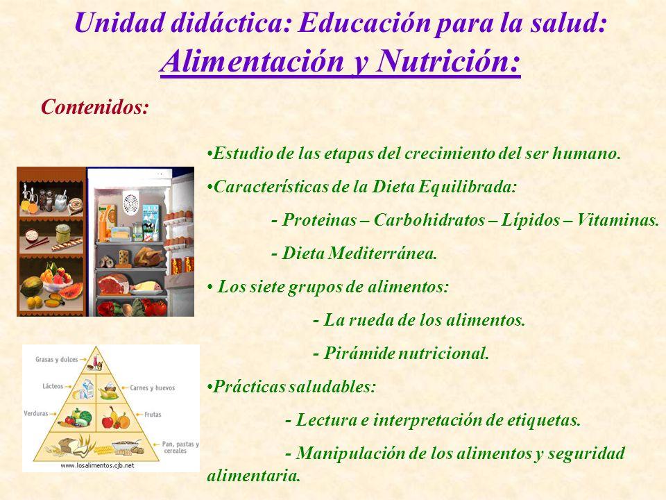 Unidad didáctica: Educación para la salud: Alimentación y Nutrición: