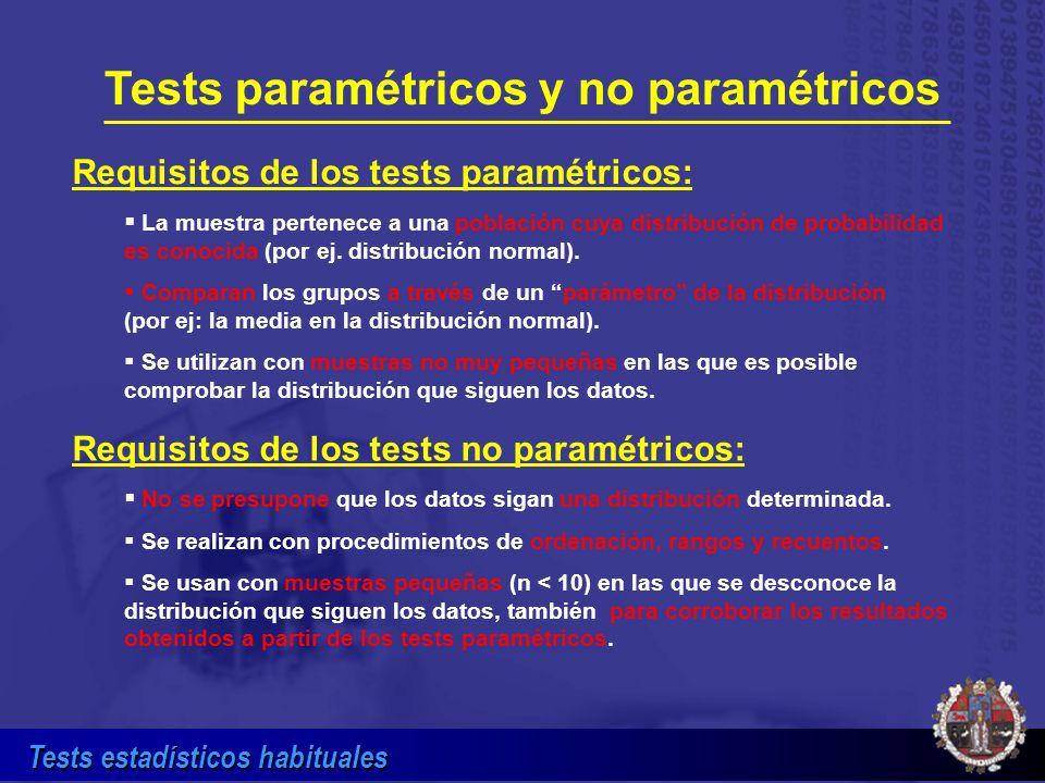 Tests paramétricos y no paramétricos