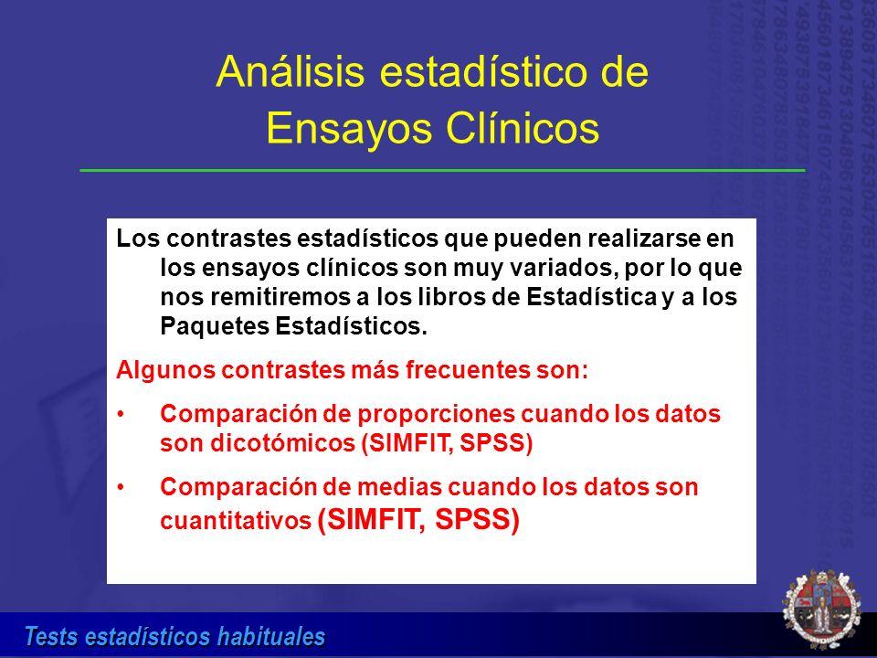 Análisis estadístico de Ensayos Clínicos