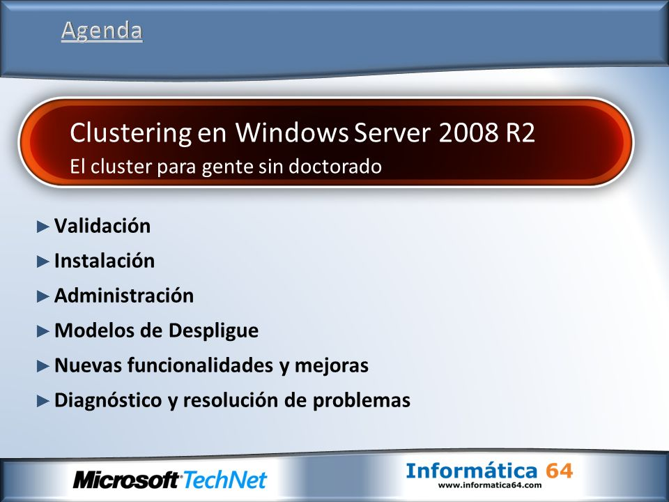 Clustering en Windows Server 2008 R2