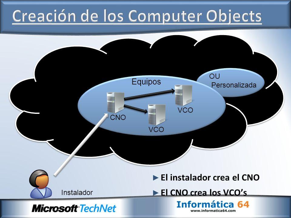 Creación de los Computer Objects