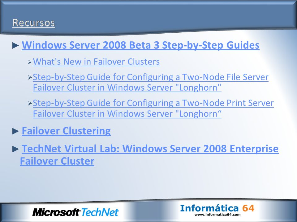 Windows Server 2008 Beta 3 Step-by-Step Guides