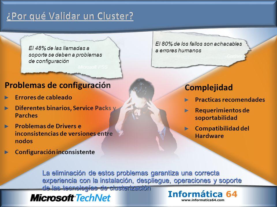 ¿Por qué Validar un Cluster