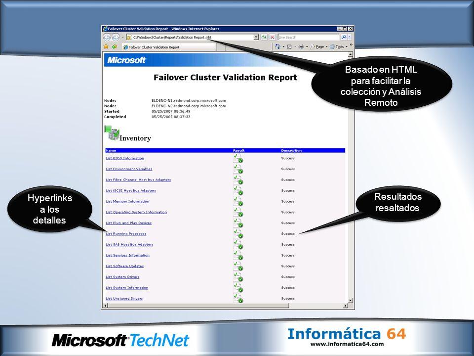 Basado en HTML para facilitar la colección y Análisis Remoto