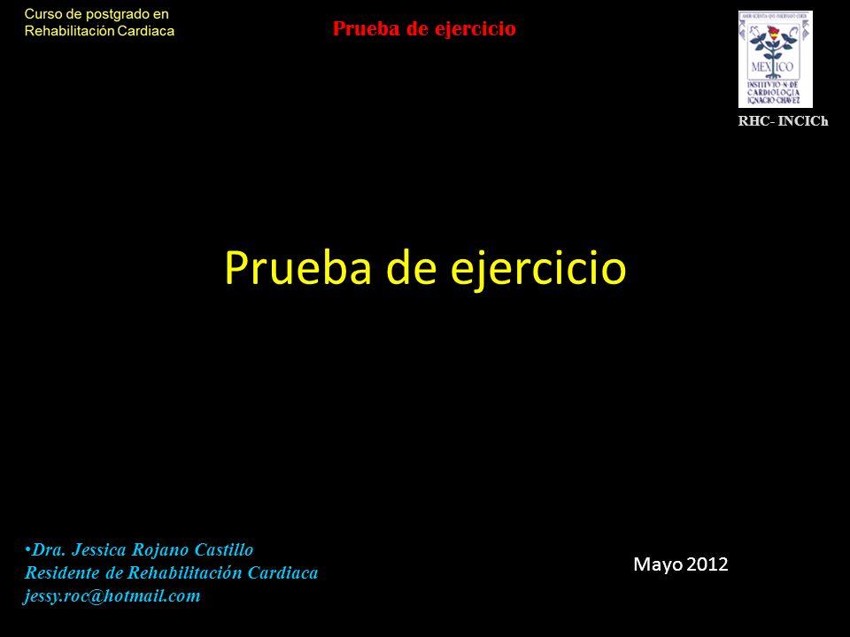 Prueba de ejercicio Prueba de ejercicio Mayo 2012
