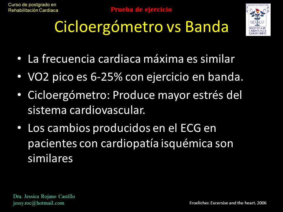 Cicloergómetro vs Banda
