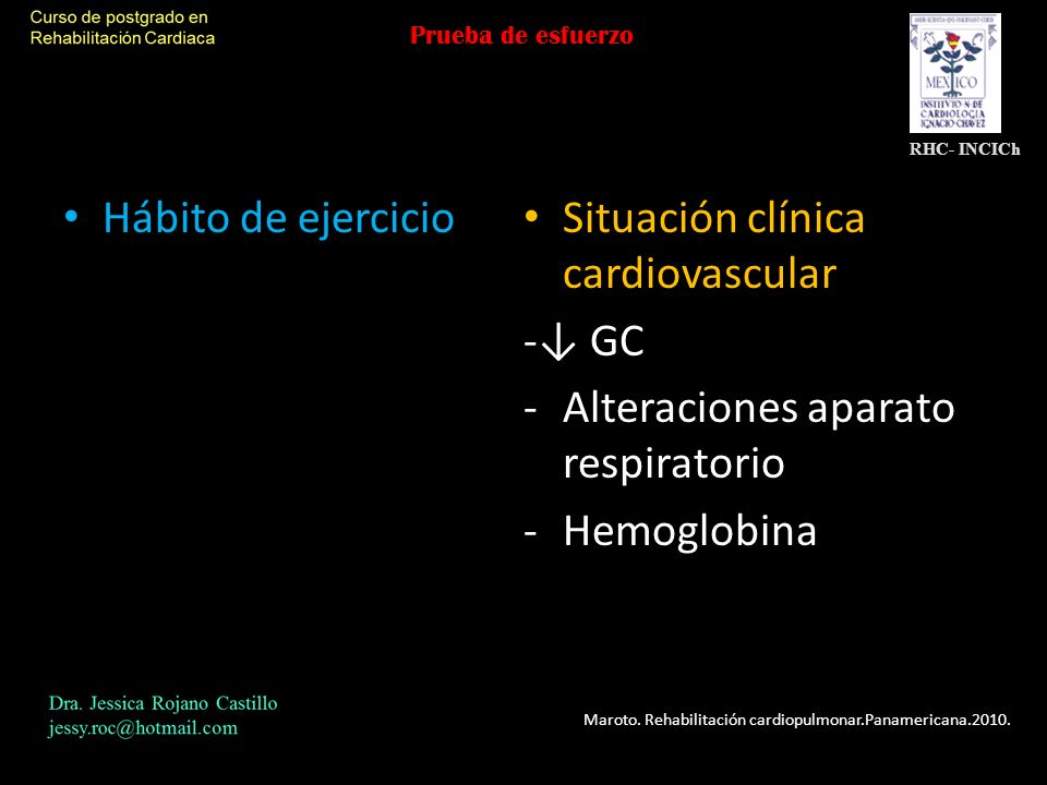 Situación clínica cardiovascular -↓ GC