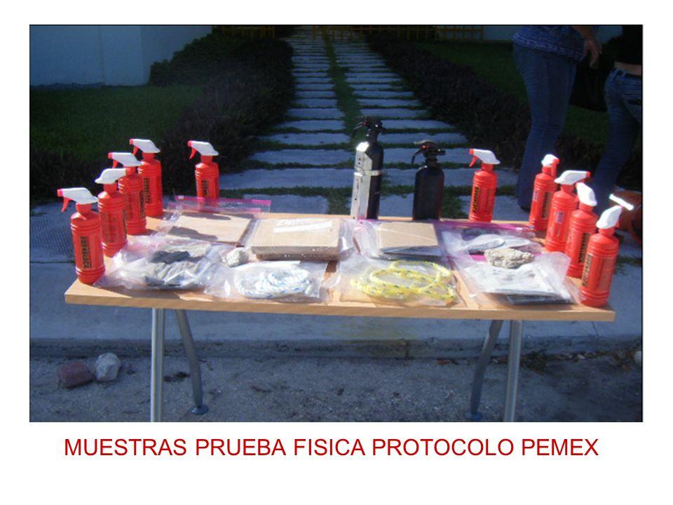 MUESTRAS PRUEBA FISICA PROTOCOLO PEMEX