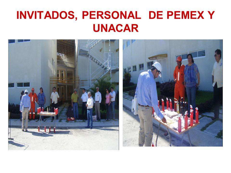 INVITADOS, PERSONAL DE PEMEX Y UNACAR