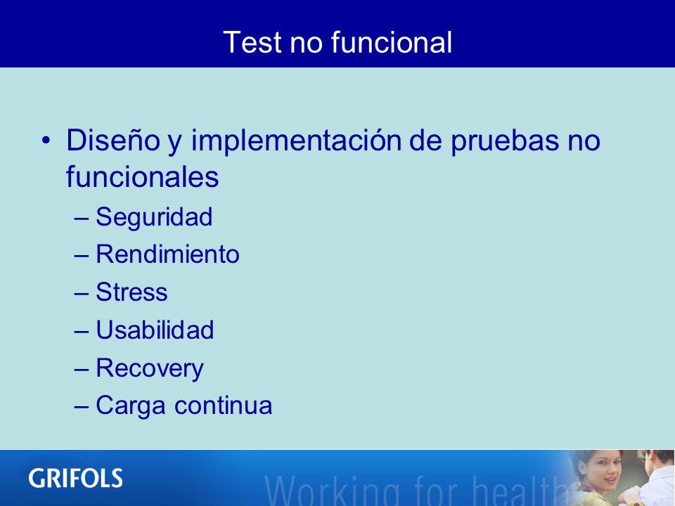 Diseño y implementación de pruebas no funcionales